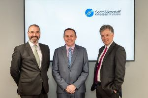 From left:  Chris Horne of Campbell Dall, Shaun Knight of Baldwins, and Stewart MacDonald of Scott-Moncrieff. Picture: Mark Varney