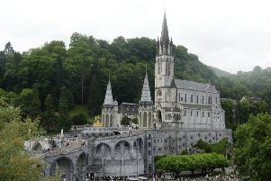 A trip to the Rosary Basilica of Lourdes features in Sinead Gleeson's new book Constellations (Leighanne Higgins/SWNS)