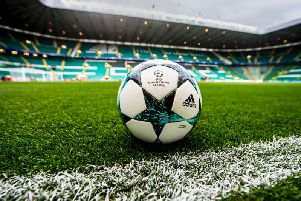 A general view of Celtic Park before a Champions League tie
