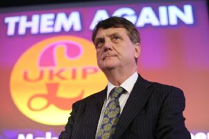 UK Independence Party (UKIP) leader Gerard Batten says the party has a future despite growing support for Nigel Farage's Brexit Party. Picture: Isabel Infantes/AFP/Getty Images
