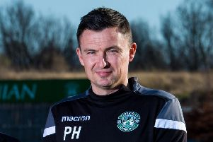 Hibernian manager Paul Heckingbottom. Pic: SNS/Ross Parker