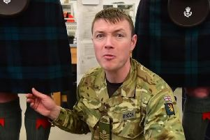 Colour Sergeant Andrew Benson presents the video. Photo: British Army Youtube.