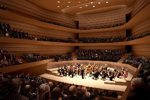 An artist's impression of the concert hall's interior