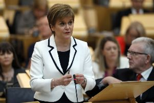 First Minister of Scotland Nicola Sturgeon. Pic: PRESS ASSOCIATION Photo.