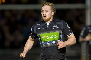 Tom Gordon has made just one start for Glasgow but Dave Rennie has 'a lot of faith' in the flanker. Picture: Bill Murray/SNS/SRU