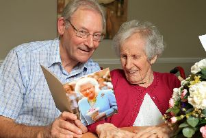 Anne pictured at Archview Lodge Nursing Home, Dalkeith with her son Tom.