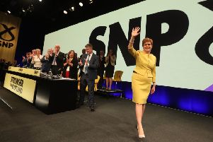 Nicola Sturgeon declared a 'climate emergency' at the SNP conference in Edinburgh (Picture: Andrew Milligan/PA Wire)