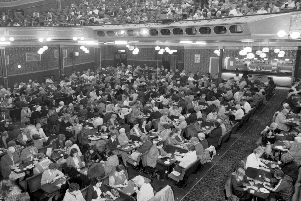 Inside the Mecca Empire bingo hall in Nicolson Street Edinburgh, October 1979