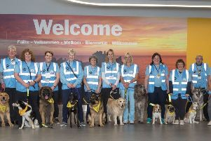 Therapy dogs brought in to Scottish airport for stressed passengers