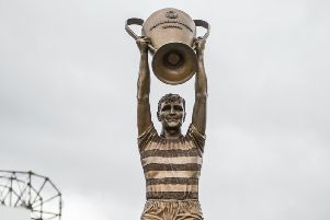 The statue of Billy McNeill outside Celtic Park in Glasgow is a lasting tribute to the Lisbon Lions (Picture: John Devlin)