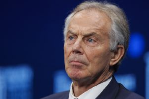 Tony Blair suggested a British football league would help dampen support for independence (Picture: Jae C Hong/AP)