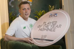 Callum McGregor is nominated for the Scottish PFA Player of the Year. Picture: Jeff Holmes