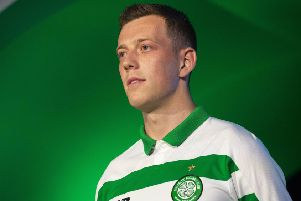 Callum McGregor, seen here modelling Celtic's new kit, has revealed he voted for a Rangers player. Picture: SNS Group