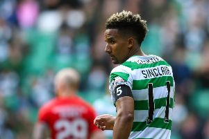 One more year: Celtic have triggered a 12-month option on Scott Sinclair's contract. Picture: SNS Group