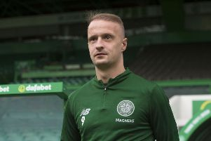 Leigh Griffiths is back in training - but still some way off the first team, according to Neil Lennon. File picture: SNS Group