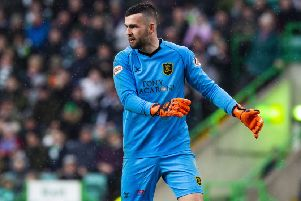 Livingston goalkeeper Liam Kelly. Picture: SNS