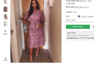 The picture of Ms Chippendale is now being used to advertise the dress (Photo: ASOS)