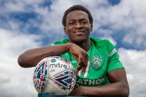 Fit again Hibs on-loan winger Thomas Agyepong has been frustrated by the injuries which have held him back this season. Picture: SNS.