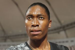 Caster Semenya won easily in Doha in what could be her final race at the distance. Picture: AP.