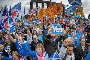 The UK Government is believed to be polling Scots to gauge how much they support independence. (Photo by Jeff J Mitchell/Getty Images)