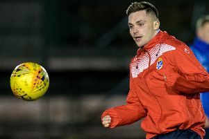 Jordan Allan warms up ahead of Cowdenbeath's Scottish Cup match in January. Picture: SNS Group