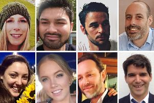 The victims of the London Bridge terrorist attack Christine Archibald, James McMullan, Alexandre Pigeard, Sebastien Belanger, Kirsty Boden, Sara Zelenak, Xavier Thomas and Ignacio Echeverria.