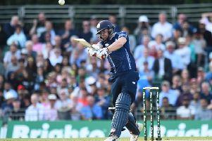 Scotland's Matthew Cross is likely to open the batting against Afghanistan. Picture: Andy Buchanan/AFP/Getty Images