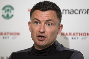 Hibs head coach Paul Heckingbottom could face something of a summer rebuild at Easter Road. Picture: SNS Group