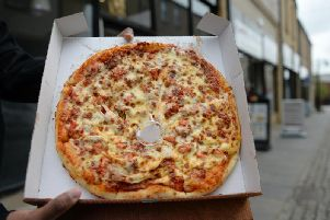 The aardvark pizza also features green chillies, chicken and lamb mince (Photo: SWNS)