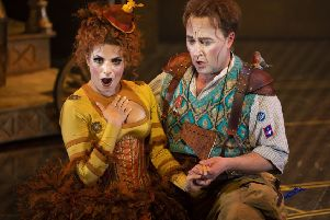 Sofia Troncoso is Papagena to Richard Burkhard's lovelorn, charming and witty Papageno in The Magic Flute