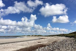 Cula Bay on Benbecula - one of the three islands working on its new flag.