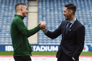 Celtic's Filip Benkovic and Nikola Katic are friends off the park. Pic: SNS/Craig Foy