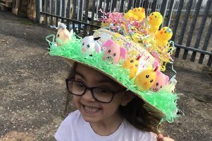 Mia in her Easter Bonnet. Picture: supplied by family