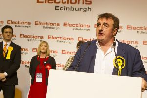 Tommy Sheppard Wins Edinburgh East for SNP at Meadowbank Stadium, Edinburgh, for the General Election. June 8 2017. Picture: SWNS