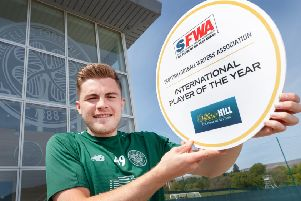James Forrest has been named Scottish Football Writers Association ,International Player of the Year. Picture: Steve Welsh