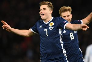 James Forrest has been named the Scottish Football Writers' International Player of the Year. Picture: Craig Foy/SNS