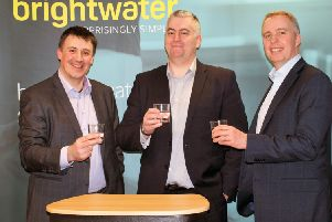L to R: Brightwater managing director, Rich Rankin; chairman, Steve Langmead; and co-founder, Roger Green. Picture: Contributed