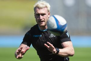 Stuart Hogg during a training session at Scotstoun ahead of the Pro14 semi-final against Ulster. Picture: Ross MacDonald/SNS/SRU
