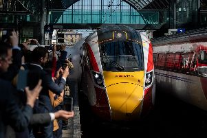 The first Azuma service launched at King's Cross in London today