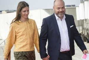 Anders Holch Povlsen (right) and his wife Anne Holch Povlsen. Picture: Olufson Jonas/Ritzau Scanpix via AP