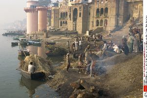Hindus and Sikhs traditonally scatter ashes over running water such as the Ganges. Picture: Gavin Hellier/Robert Harding/REX/Shutterstock