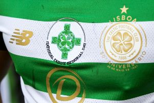 The Celtic Cross logo which will be worn by Celtic's players on Sunday. Picture: SNS Group