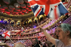 The Scotsman's office on a quiet Tuesday? No, believe it or not, this is actually the Last Night of the Proms at the Royal Albert Hall in London (Picture: Akira Suemori/AP)