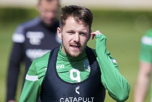 Marc McNulty made an impression at Easter Road after arriving on loan from Reading. Picture: SNS Group