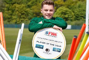 James Forrest has been unveiled as the Scottish Football Writers' Association's Player of the Year. He also won the main PFA Scotland award. Photograph: Steve Welsh