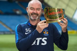 Steve Clarke, the Ladbrokes Premiership Manager of the Season, is this week expected to leave Kilmarnock and accept the job of Scotland boss. Picture: Bill Murray/SNS