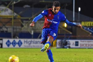 Nathan Austin scored seven goals for Inverness this season. Pic: SNS