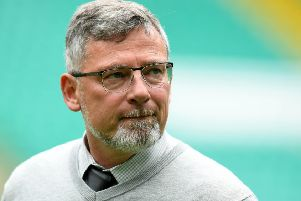 Hearts manager Craig Levein raised doubts about Olly Lee's fitness. Pic: SNS/Craig Williamson