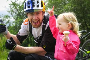 Daisy Thomson was just two years of age when most of her scenes in Danny MacAskill's new film were shot.