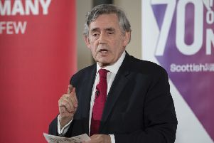 Gordon Brown has warned of 50 years of division ahead. Picture: John Devlin